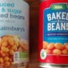 Compare Reduced Sugar, Reduced Salt Baked Beans: Sainsburys versus Asda