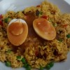 Simple, Egg Curry with Spicy Rice