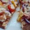 Simple Peppers, Cherry Tomato & Red Onion Naan Pizza With a Sweet Chilli Sauce