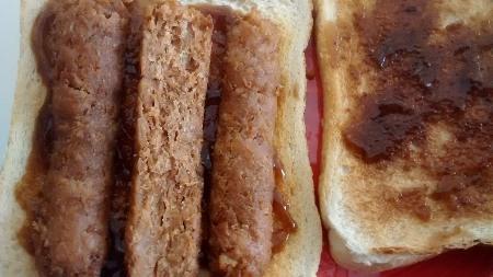Vegetarian Sausage Sandwich Toasted