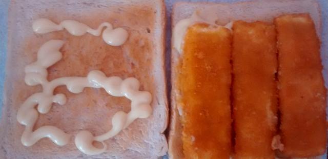 Microwave Fish Finger ToastedSandwichToastie