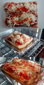 Baguette Pizza Sweet Chilli Cheese Peppers