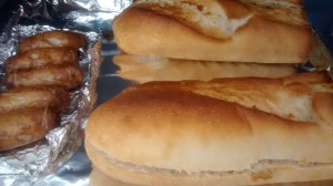 Hot Sausage Baguettes Recipe