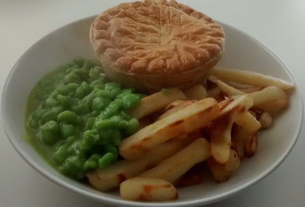 Lidl Pie Chips Mushy Peas