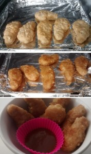 Chicken Dippers Frozen Cooked With Dipping Sauce