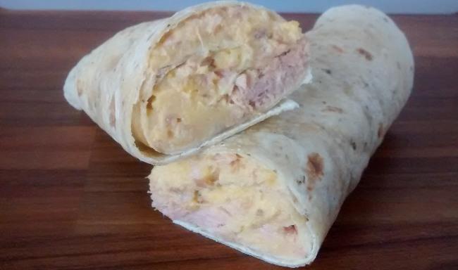 Chickpea Tuna Mayo Wrap