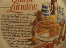 Flan Dish Quiche Lorraine Recipe Vintage Retro