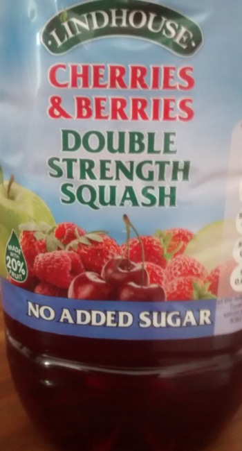 Lindhouse Berries Cherries Double Strength Squash Drink No Added Sugar