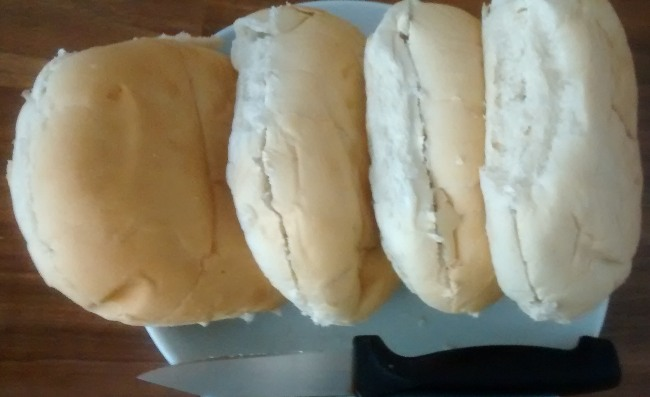 Slice Bread Rolls Before Freezing