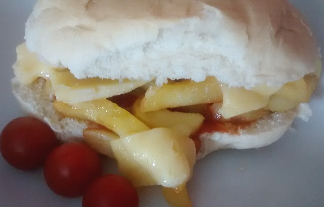 Cheesy Chip Butty Oven Chips