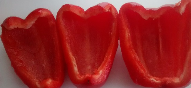 Five Day Red Peppers Halved