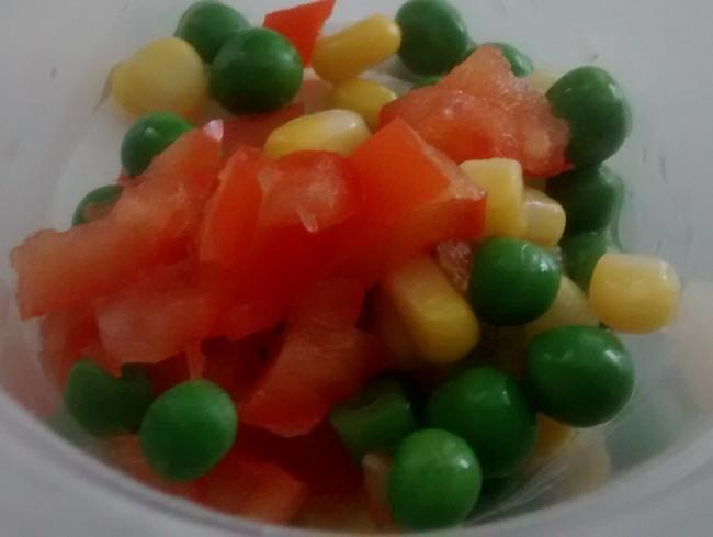 Mixed Frozen Vegetables Rice