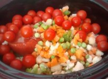 Simple Slow Cooker Vegetable Soup