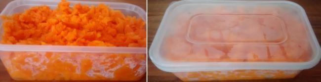 Storing Microwave Carrot Mash