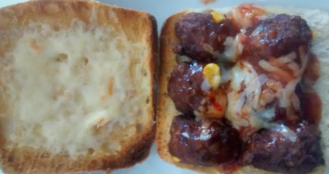Tex Mex Meatballs Sub Cheese Chilli