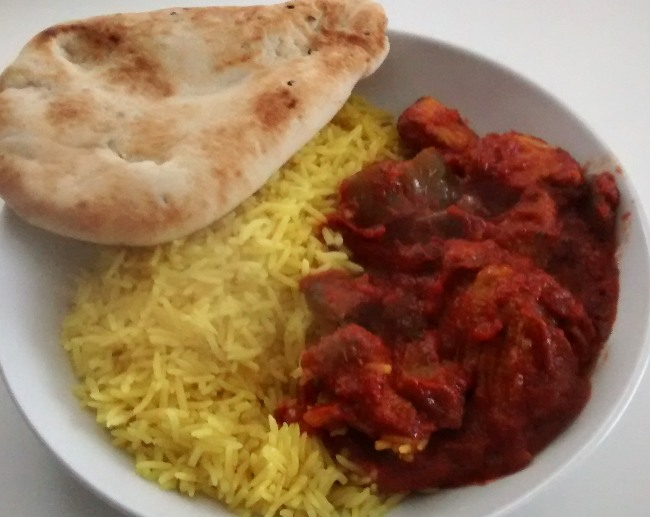 Chef Select Indian Meal ChickenJalfrezi Pilau Rice Naan Bread
