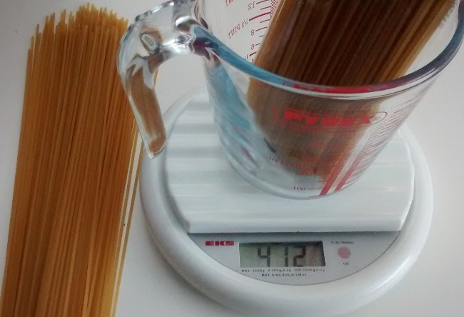 Measure One Portion Spaghetti Tips