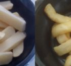 Microwave Steak Cut Chips Before After