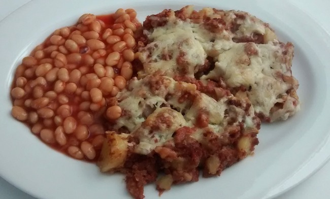 Serve Corned Beef Hash Baked Beans