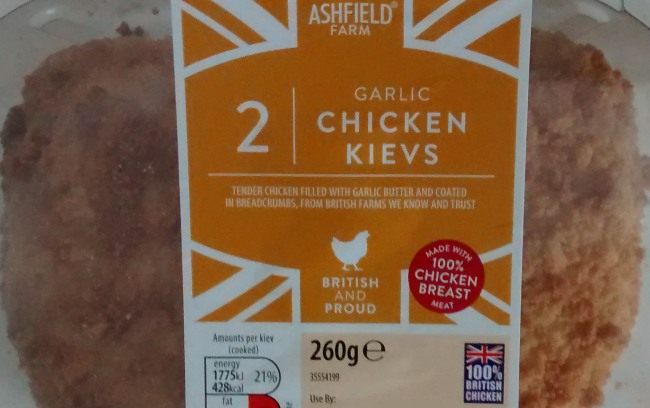 Ashfield Farm Garlic Chicken Kiev Aldi