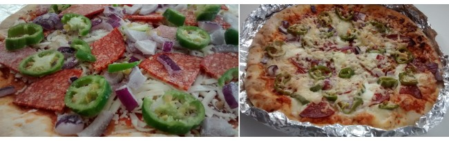Carlos Stonebaked Margherita Pizza Red Onion Chorizo Jalapeno Peppers Cheddar Cheese