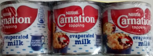 Use Carnation Evaporated Milk 170 grams Small