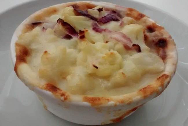 Cauliflower Cheese Red Onion