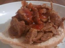 Kebab Meat Ciabatta Bread Roll