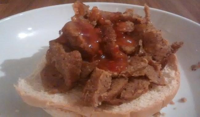 Kebab Meat Ciabatta Bread Roll