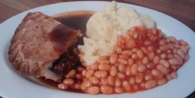 Minced Beef Onion Pie Mashed Potatoes Baked Beans