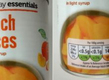 Aldi Everyday Essentials Peach Slices Light Syrup 10Day