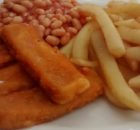 Microwave Fish Fingers Microwave Oven Chips Baked Beans