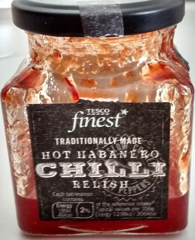 Tesco Finest Hot Habanero Chilli Relish