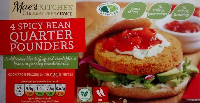 Maes Kitchen Spicy Bean Quarter Pounders Aldi