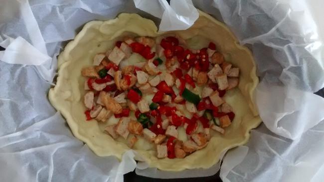 Sausage Chilli Onion Cheese Quiche