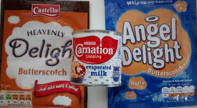 Angel Delight Heavenly Delight Butterscotch Evaporated Milk