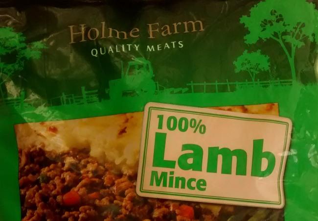 Holme Farm Frozen Lamb Mince Aldi