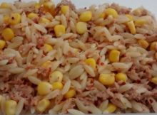 Orzo Pasta Salad Chilli Tuna Sweetcorn