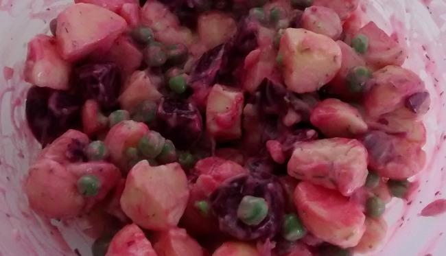 Potato Salad Beetroot Peas
