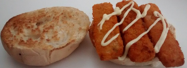 Fish Finger Butty Microwave Recipe
