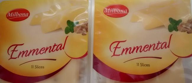Milbona Lidl Emmental Cheese Slices