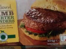 Oakhurst Lamb Mint Quarterpounder Burgers Aldi Box