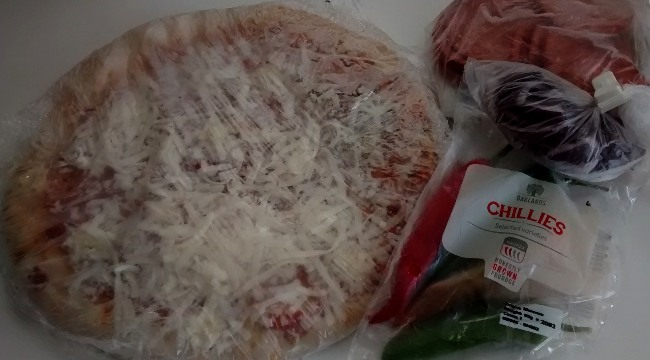 Chorizo Pizza Topping Chillies Red Onion