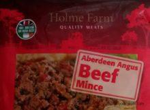 Holme Farm Aberdeen Angus Beef Mince Aldi Frozen