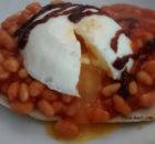 Beans Toast Poached Egg Microwave Crust