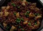 Microwave Keema Minced Lamb Potato Peas