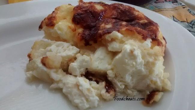 No Weigh Crustless Quiche Cheese Onion Mozzarella