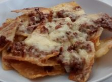 Chilli Beef Cheese Nachos Recipe Serves One