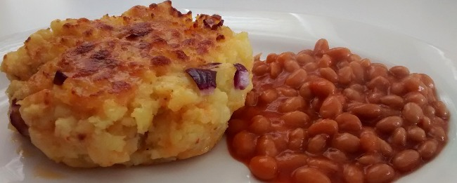 Mexicana Cheese Potato Red Onion Pie Baked Beans