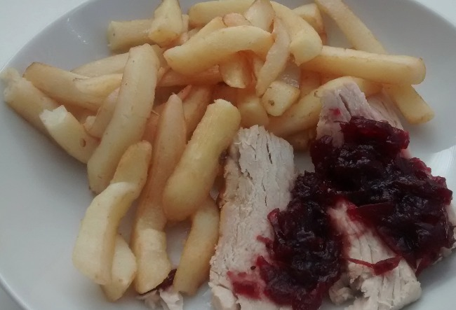 Leftover Turkey Chips Cranberry Sauce